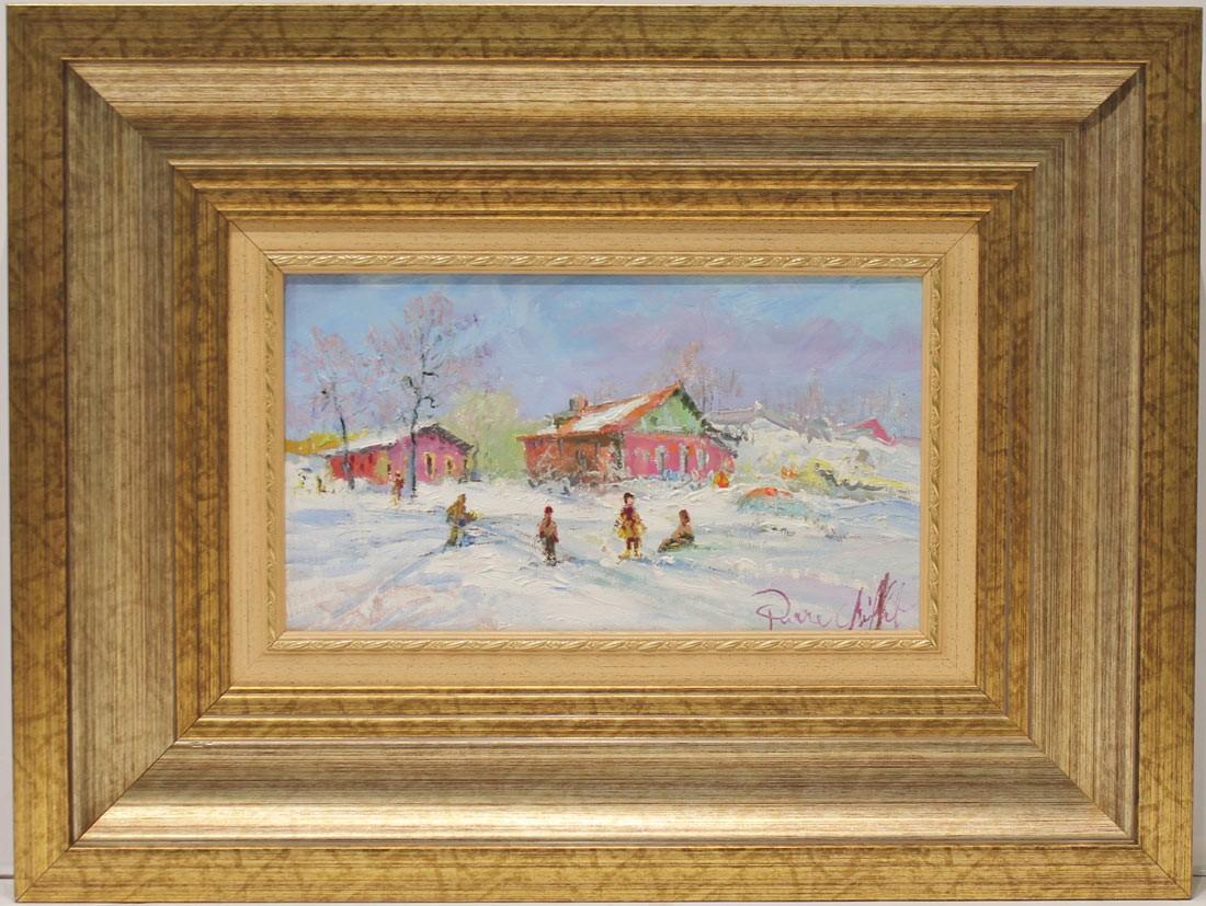 Pierre Chiflet: Jugando en la nieve