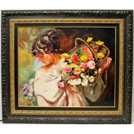 Jose Luis Giner: Woman with flowers