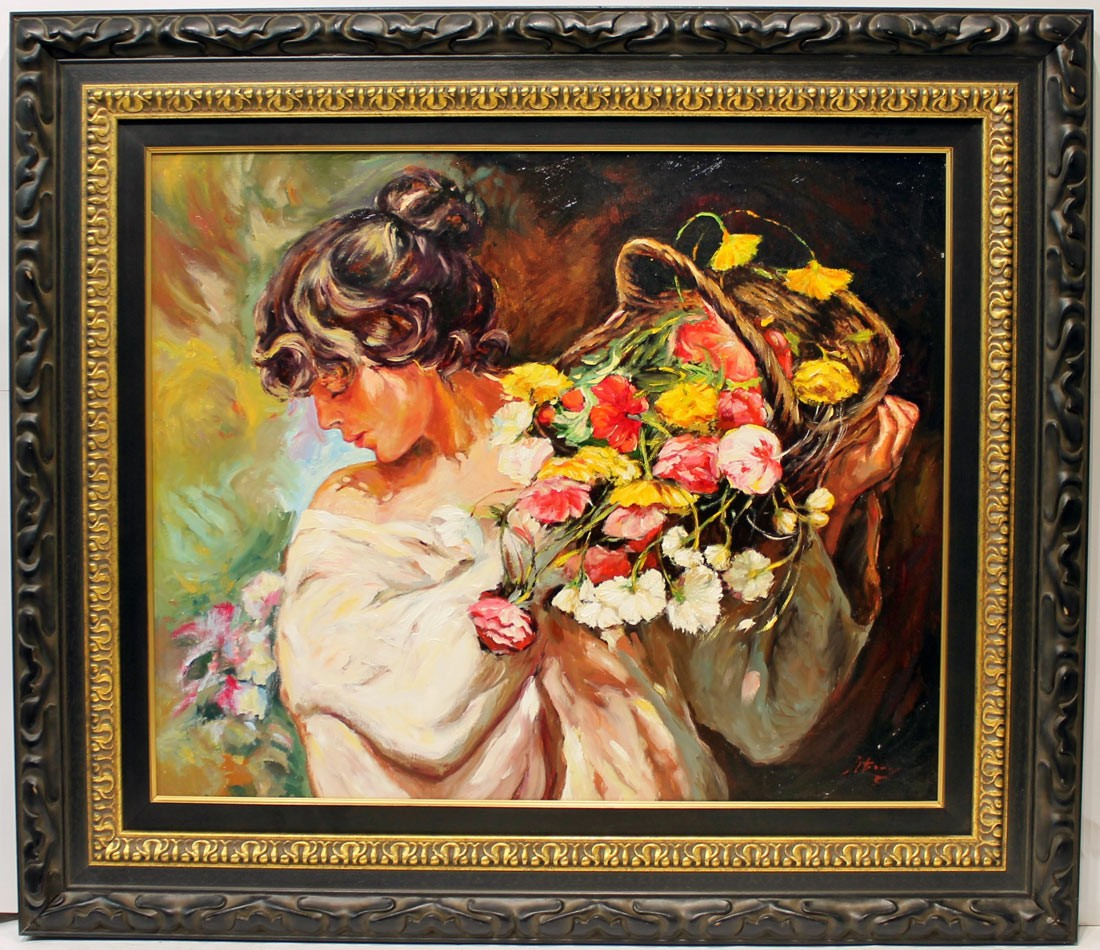 Jose Luis Giner: Mujer con flores