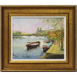 Pierre Chiflet: Barcas en el río
