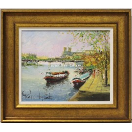 Pierre Chiflet: Boats on the river