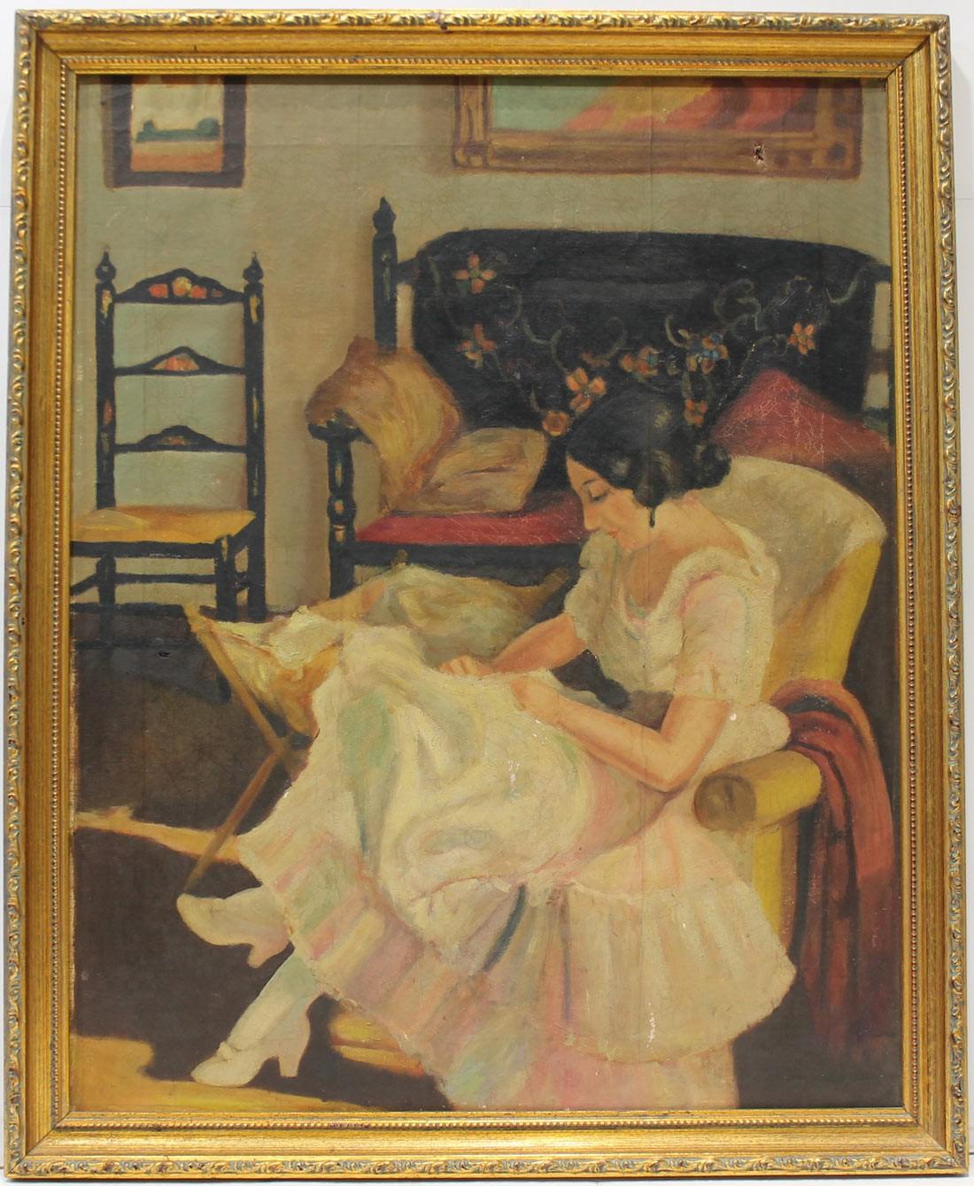 Anónimo: Mujer sentada