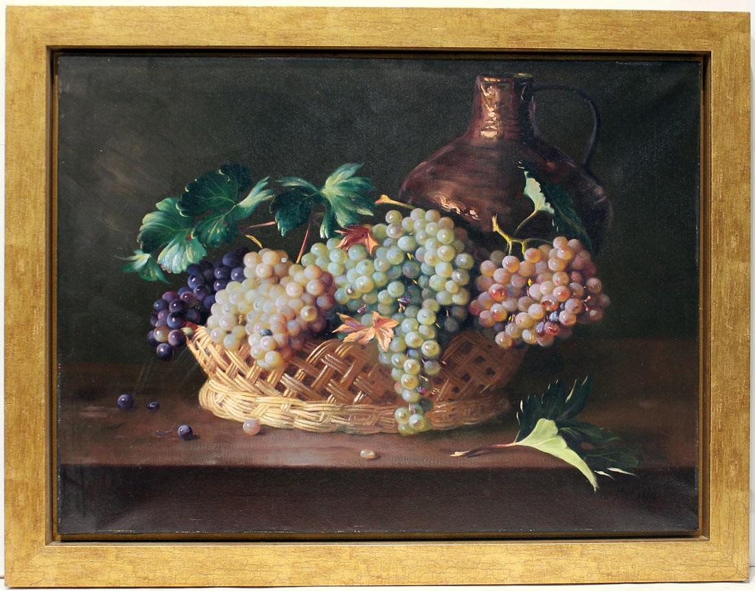 Juan Padilla: Bodegón de uvas