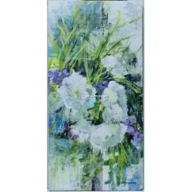 Carmen Schamann: White and mauve flowers