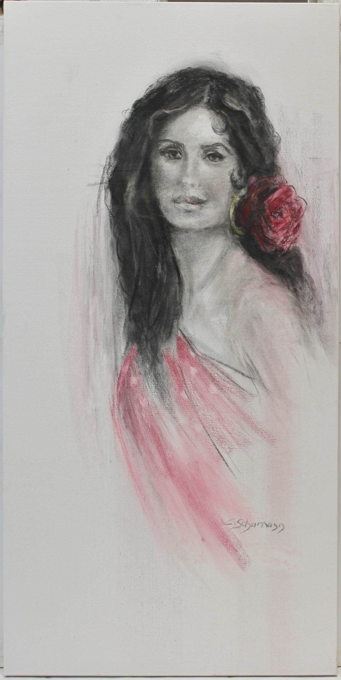 Carmen Schamann: La chica de la flor en el pelo