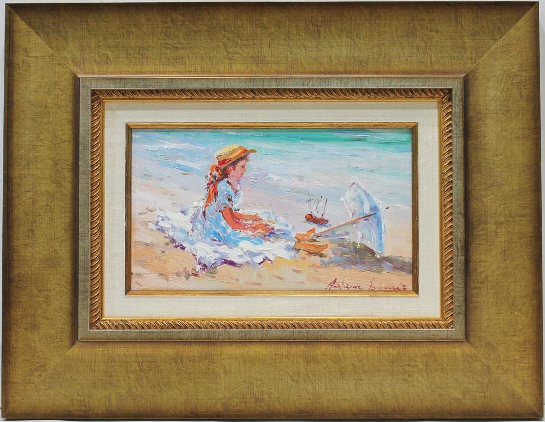 Antoine Barneir: Figuras de niña en la playa