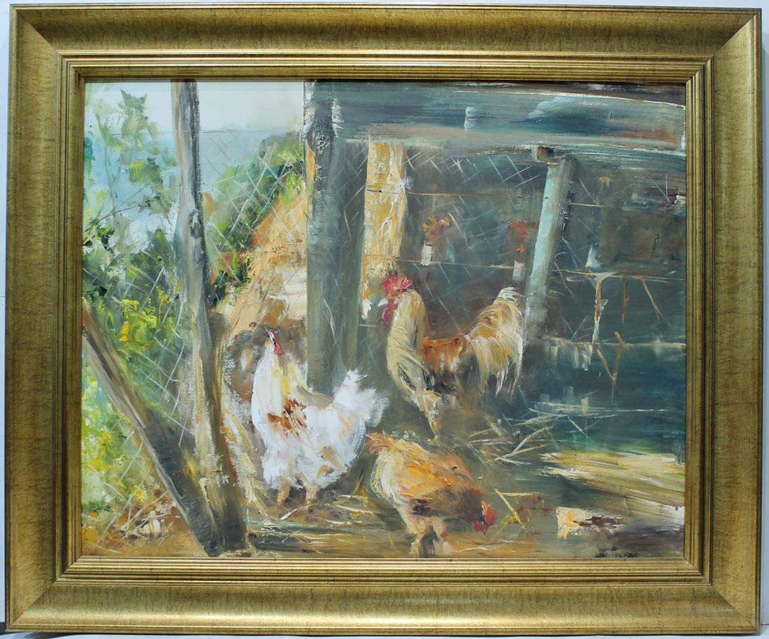 Ana Delgado: Gallo y gallinas