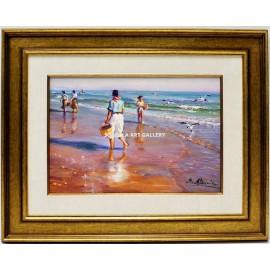 Mariscadoras en la playa