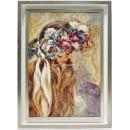 Jose Luis Giner: Mujer con flores en la cabeza