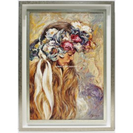Jose Luis Giner: Woman with flowers on her head
