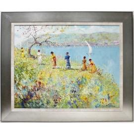 Antonio de Cela: Spring on the riverbank