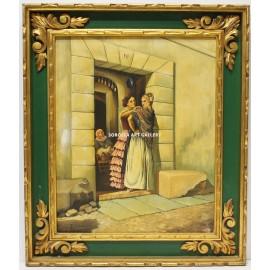 R. Galván: Gypsy women at the door