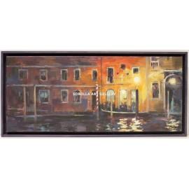 Javier Montes: Fachada nocturna de Venecia