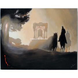Rocío on horseback