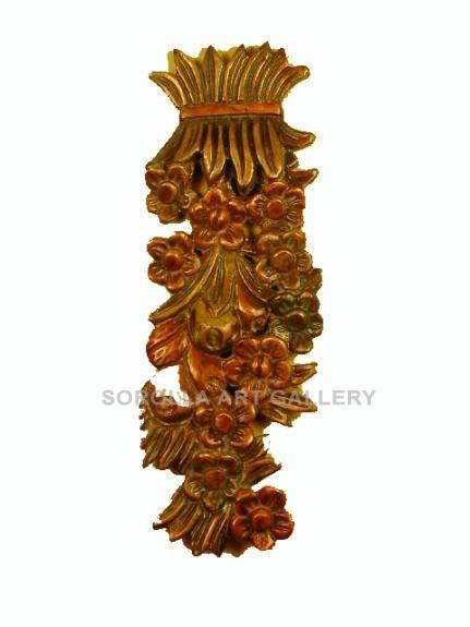 Tallas madera: Ramo de Flores - 55 cm