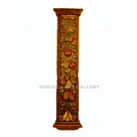 Wood Carvings: Pilastra Fruits - 139 cm
