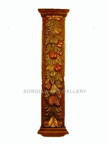 Tallas madera: Pilastra Frutas - 139 cm