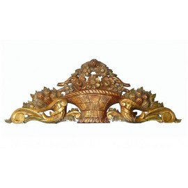 Wood Carvings: Lintel Basket - 107 cm