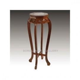Tallas madera: Peana Nogal con mármol - Octogonal 91cm