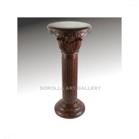 Tallas madera: Peana Cereza Oscuro - Redonda 91cm
