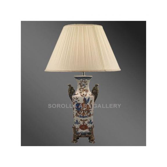 Porcelana decorada: Pie de lampara 39cm - Bertucho