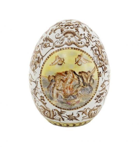 Porcelana decorada: Huevo 15cm - Pante
