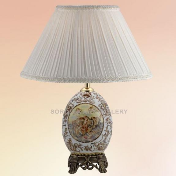 Porcelana decorada: Pie de lámpara huevo 21cm - Pante