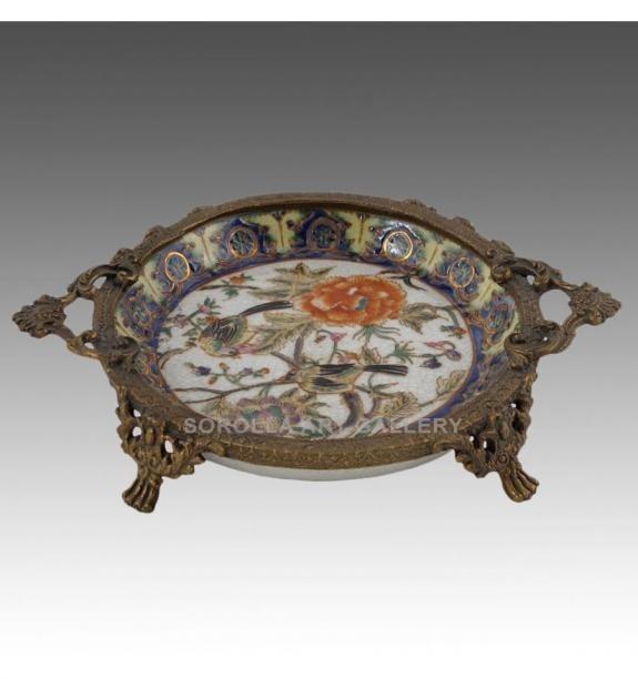 Porcelana decorada: Bandeja 18cm - Milex