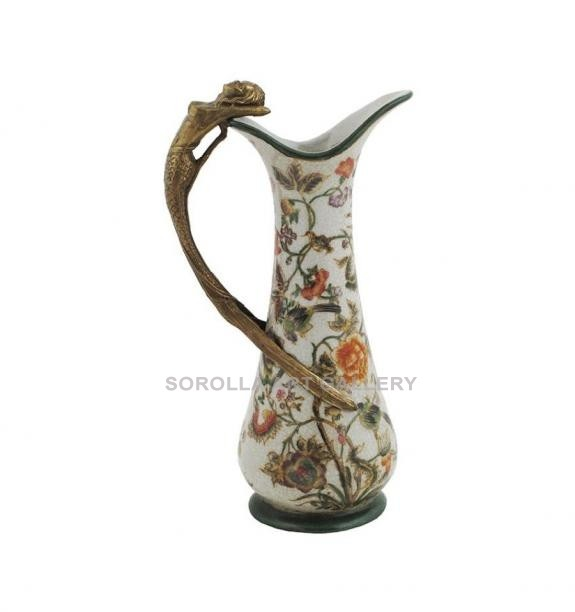 Porcelana decorada: Jarra mujer 25cm - Milex
