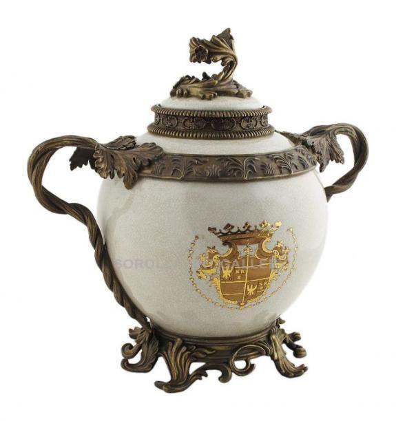 Porcelana decorada: Tibor 33cm - Infantas