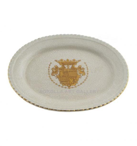 Porcelana decorada: Bandeja ovalada 26cm -Infantas