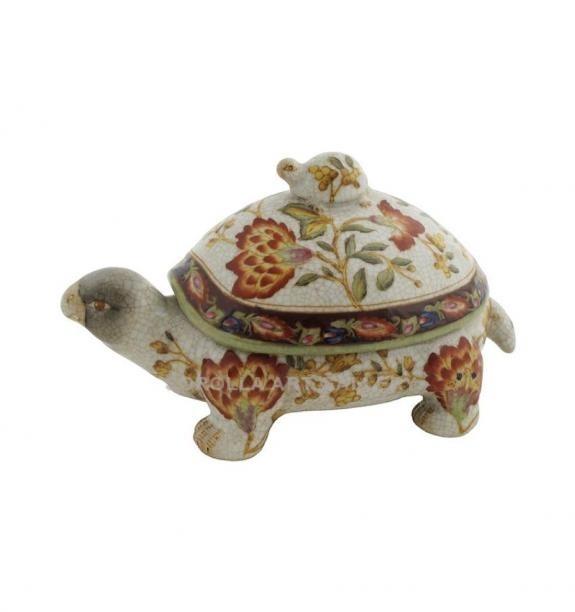 Porcelana decorada: Tortuga 18cm - Hiti