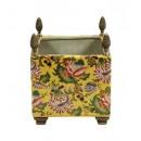 Porcelana decorada: Macetero cuadrado 19cm - Marllaun