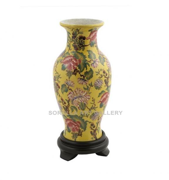 Porcelana decorada: Jarrón clásico 25cm - Marllaun
