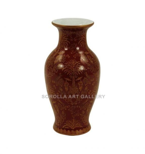 Porcelana decorada: Jarrón clásico 25cm - Palmira