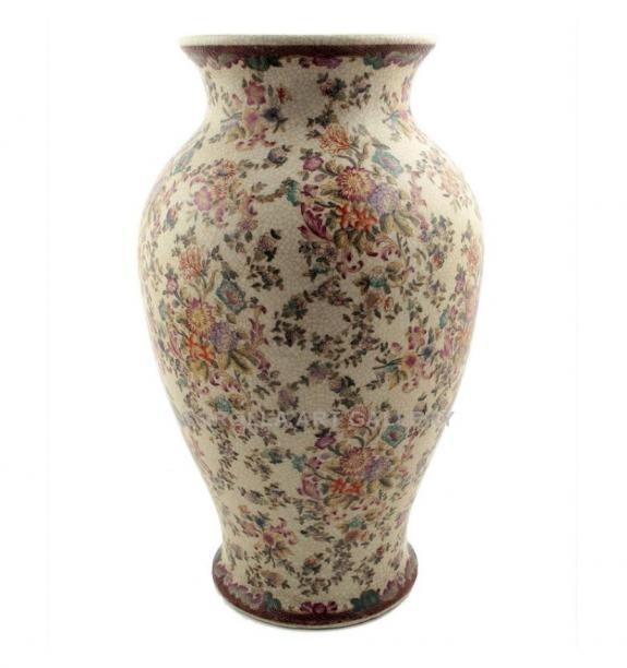 Porcelana decorada: Jarrón 36cm - Delicia