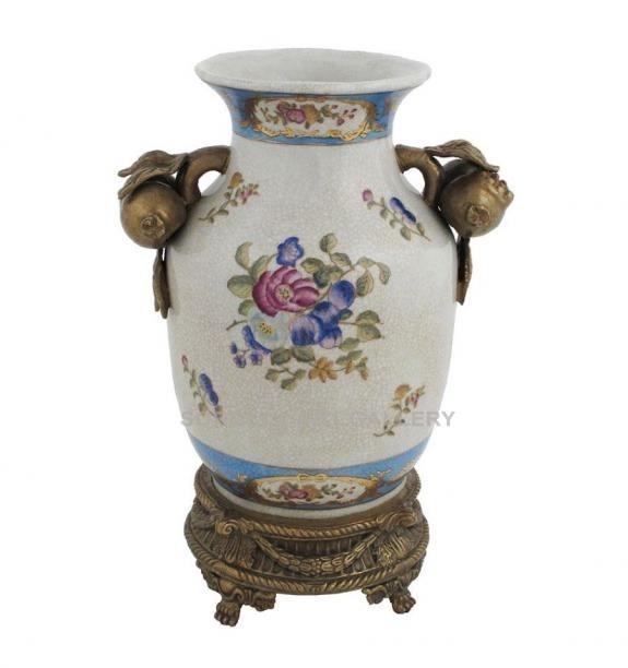 Porcelana decorada: Jarrón asa frutas 26cm - Milady