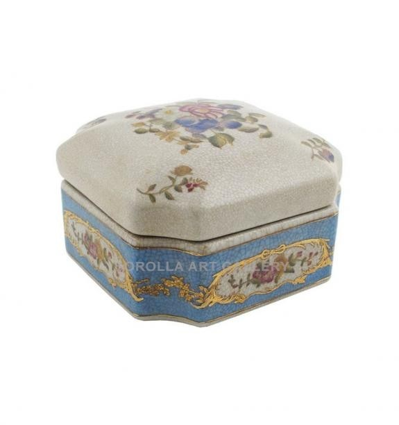 Porcelana decorada: Caja octogonal - Milady