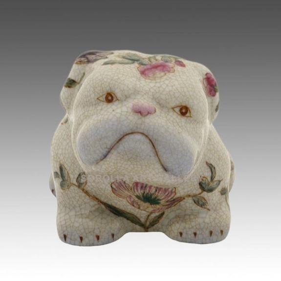 Porcelana decorada: Perro Bulldog sentado 9cm - Komachi