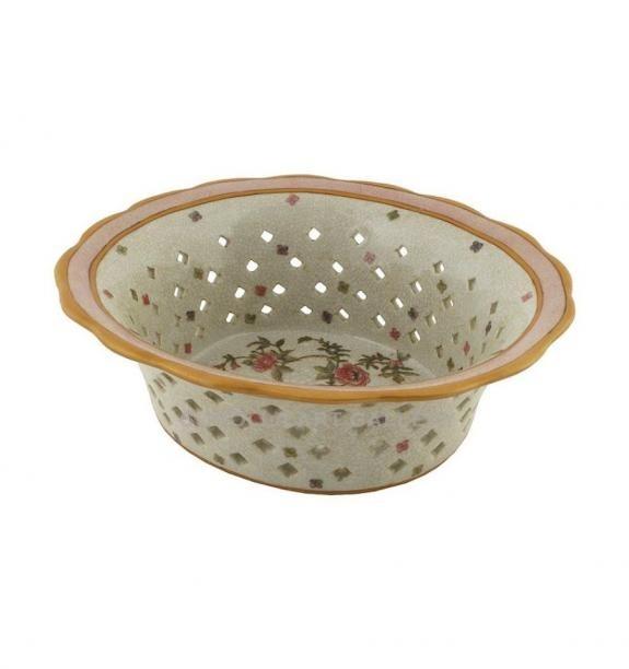 Porcelana decorada: Centro labrado 22cm - Komachi