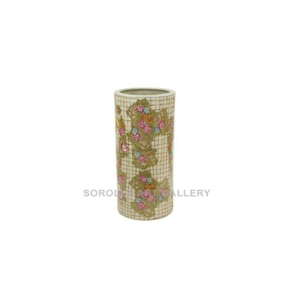 Porcelana decorada: Paraguero 46cm - Hiedra