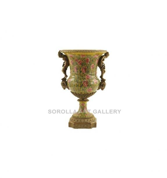 Porcelana decorada: Jarrón mujeres 61cm - Amapola