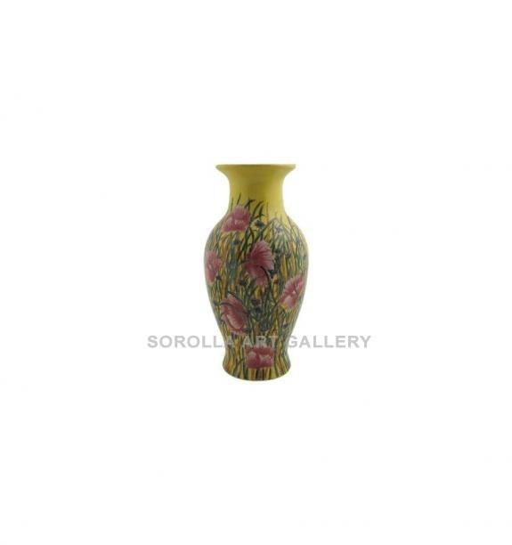 Porcelana decorada: Jarrón clásico 25cm - Amapola