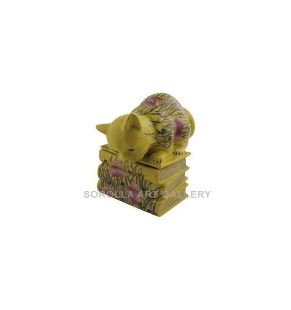Porcelana decorada: Caja libro 20cm - Amapola