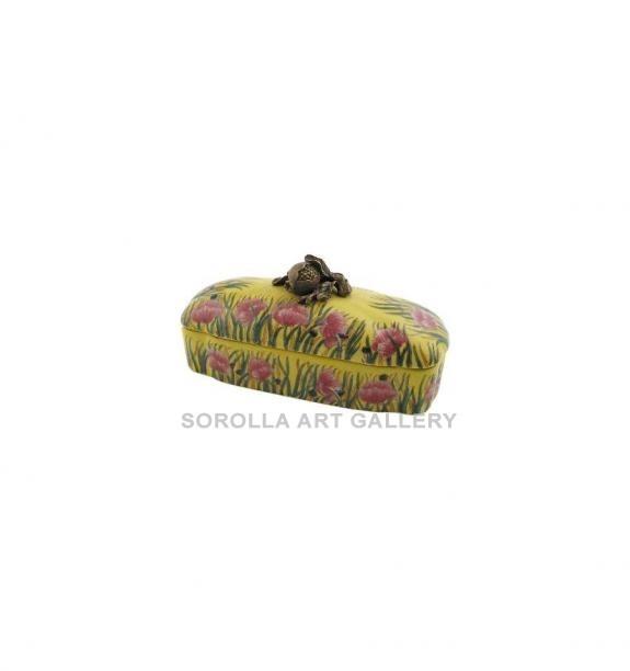 Porcelana decorada: Caja rectangular 21cm - Amapola