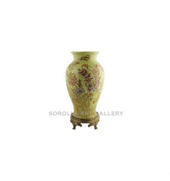 Porcelana decorada: Jarrón 42cm con bronce - Exotica