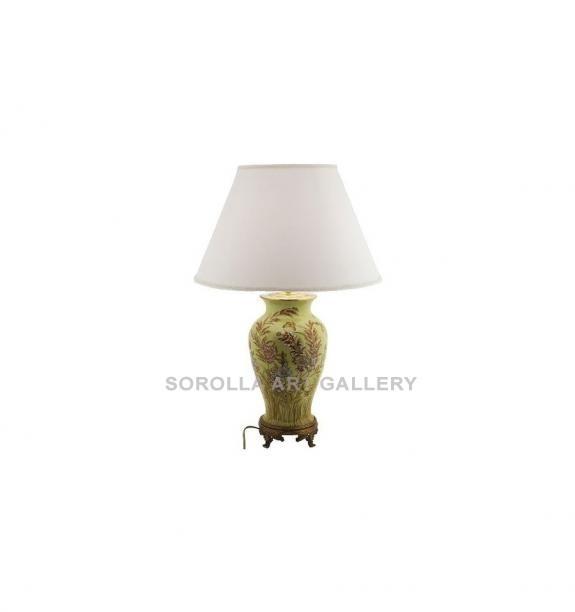Porcelana decorada: Pie de lámpara jarrón 47cm - Exotica