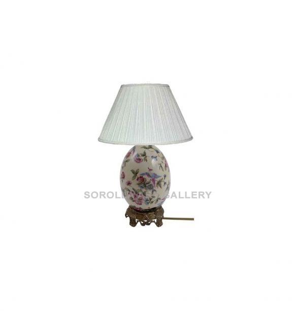 Porcelana decorada: Pie de lámpara huevo 21cm - Ambrosia
