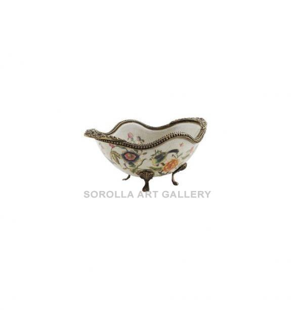 Porcelana decorada: Cuenco bañera 17cm - Milex