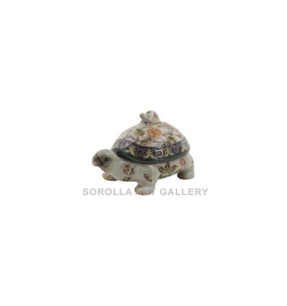 Porcelana decorada: Tortuga 18cm - Milex